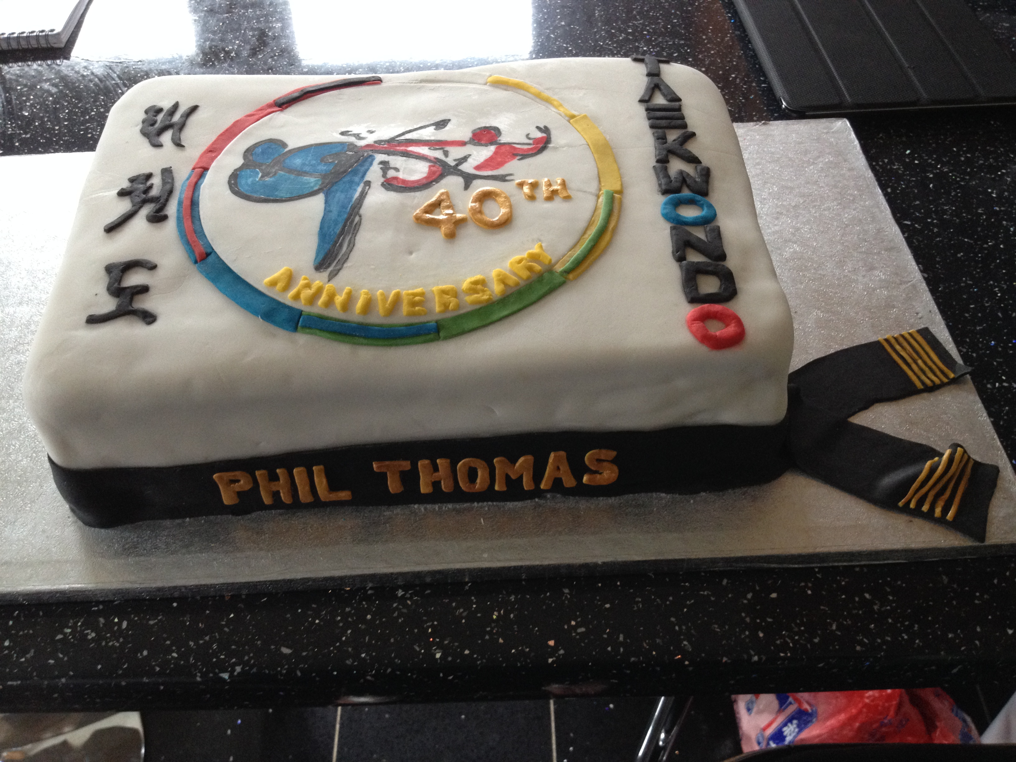Phil Thomas 40th Anniversay cake