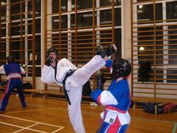 J Walford kicking
