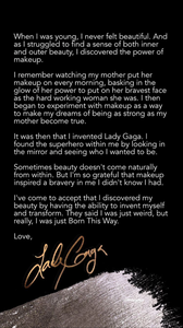 Lady Gaga's message to fans on Haus Labs Instagram