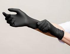 Chef hands. Kitchen hygiene. Woman weari