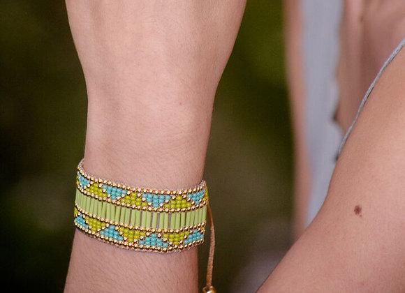 Light green woven Bracelet 187-111