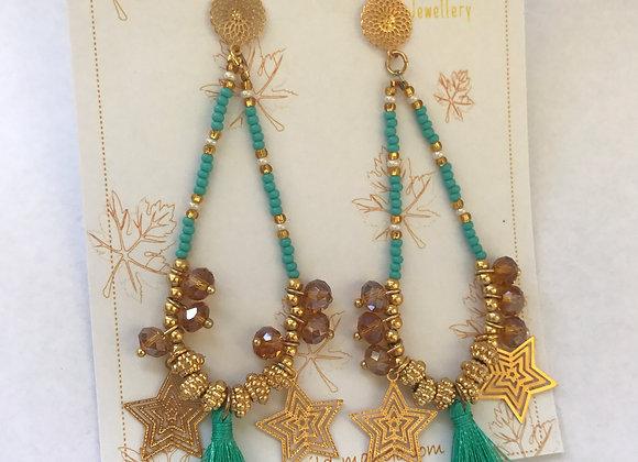 Filigree woven earrings 12-33
