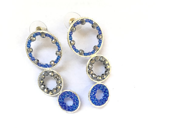 Three rings woven earrings2 12-34