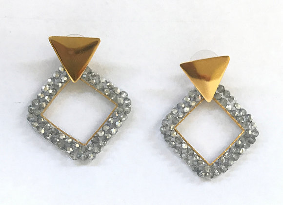 Rhombus woven earrings 12-26