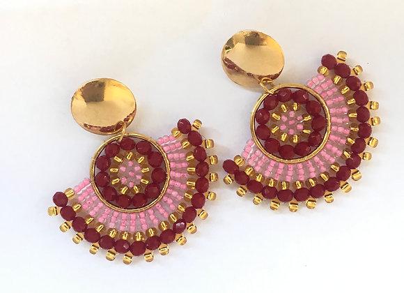 Woven abacus earrings 12-3