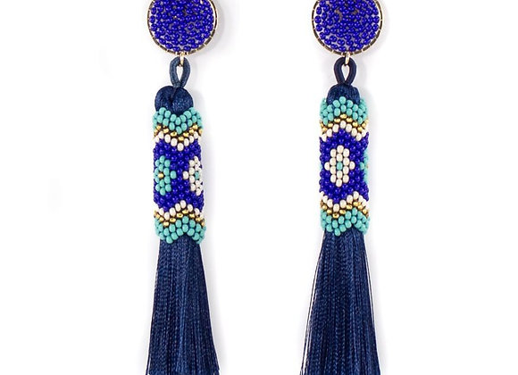 Navi woven with threads earrings 12-24