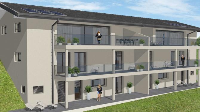 Villeneuve (VD) - Construction de 2 villas jumelles de 178 m2 avec vue sur le lac.