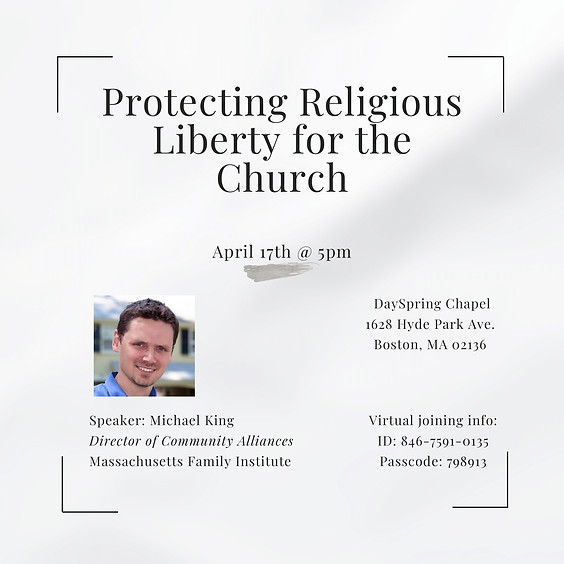 Protecting Religious Liberty for the Church