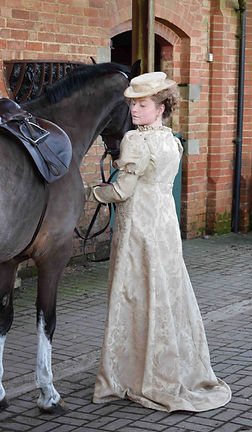 Clara Lockyer; costume; regency, regency riding habit, regency riding wear, riding habit, riding, riding wear; sewing; dressmaking; millinery; hatmaking; theduchess; georgian; hatmaking; costumer; costumemake; maker; Costume Design; Costume Designer