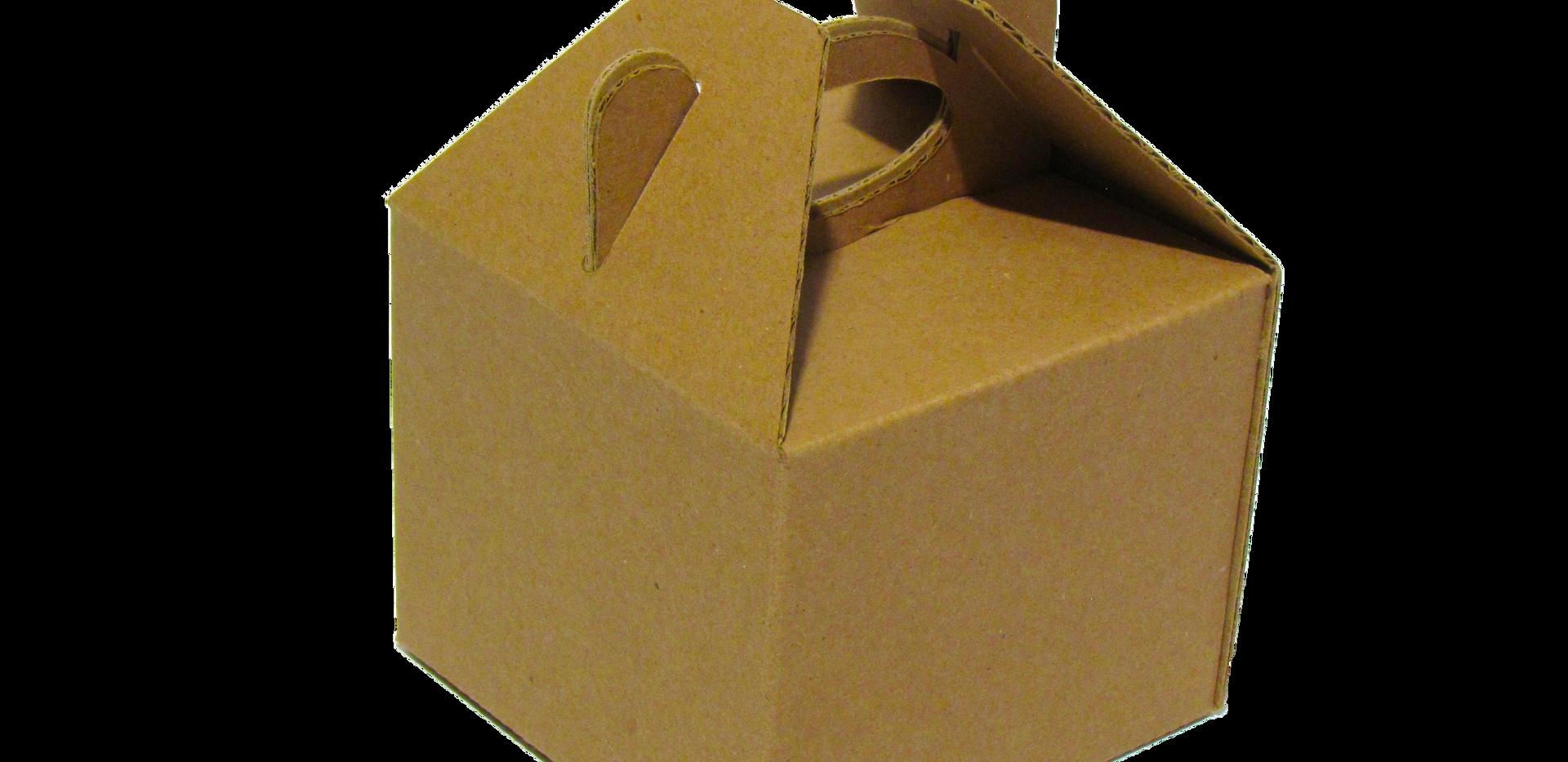 Lonchera chica ideal para bocadillos   Medidas internas: Largo: 12.0 cm. Ancho: 12.0 cm. Altura: 9.8 cm.  Material: -Microcorrugado  Linner: -Kraft -Blanco  Con o sin impresión