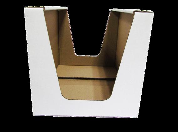 """Exhibidor cielo abierto con 2 ventanas de acuerdo a las medidas que se acomoden a sus necesidades asi como el tipo de material y linner exterior  Material: -Flauta """"B"""" -Flauta """"C"""" -Flauta """"E""""  DOBLE CORRUGADO -Flauta """"BC"""" -Flauta """"BE""""  Linner exterior: -Blanco -Kraft  Con o sin impresión"""
