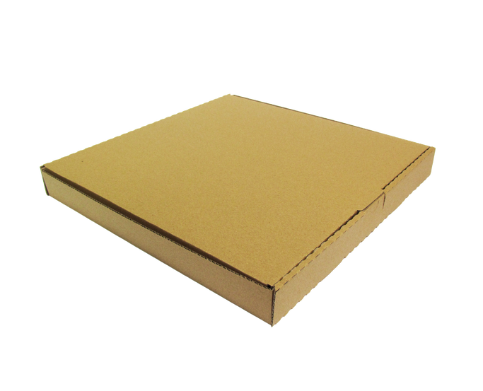 "Pizza con diseño cuadrado  Tamaño -Chica -Mediana -Grande -Jumbo  Material: -Microcorrugado -Flauta ""B"" -Flauta ""C""  Linner: -Kraft -Blanco  Con o sin impresión"