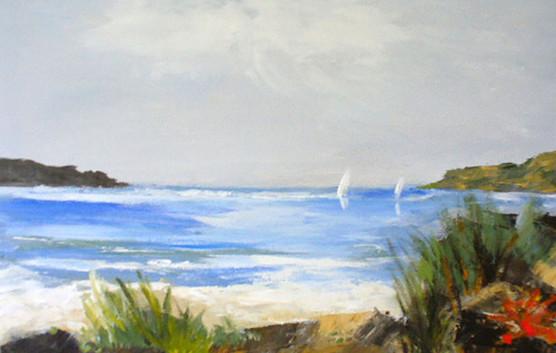 Two sails & beach