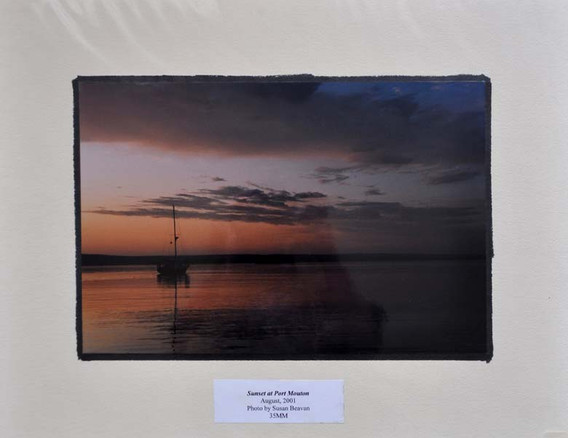 Sunset at Port Mouton