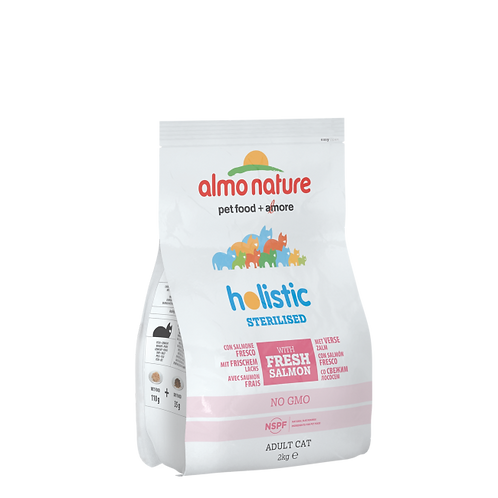 Almo Nature Sterilised Cat Dry Food - Salmon and Rice (2kg)