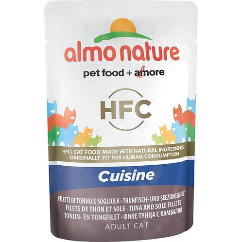 Almo Nature Classic Cuisine Cat Pouch - Tuna & Sole Fillet (55g)