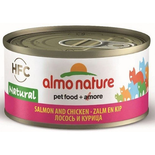 Almo Nature Cat Canned Food - Salmon & Chicken (70g)