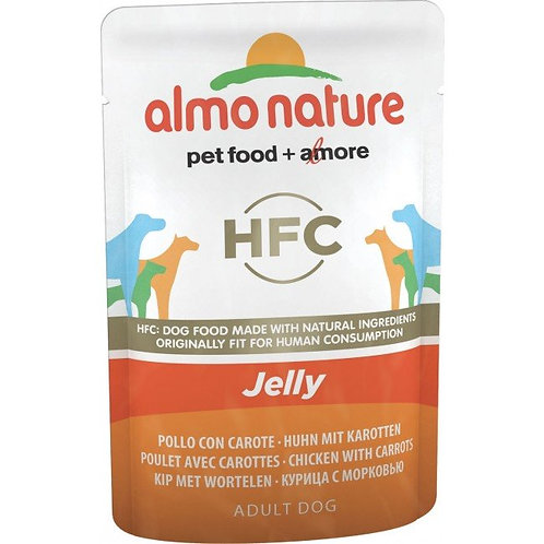 Almo Nature Classic Jelly Wet Dog Food - Chicken & Carrot (70g)