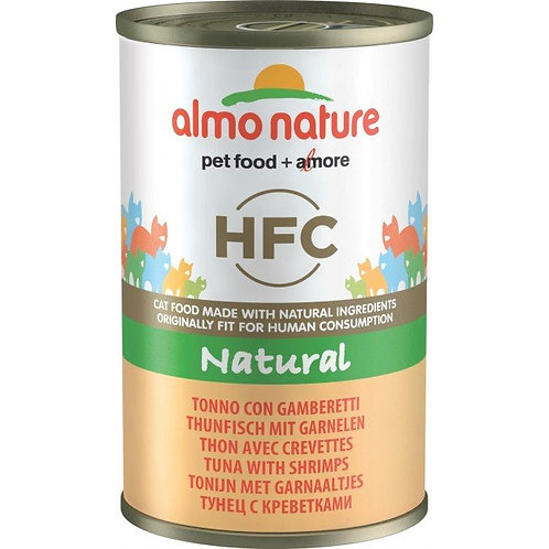 Almo Nature Cat Canned Food - Tuna & Shrimps (140g)