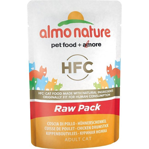 Almo Nature Classic Raw Pack Cat Pouch - Chicken Drumstick (55g)