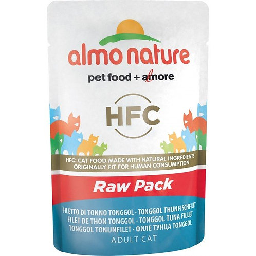 Almo Nature Classic Raw Pack Cat Pouch - Tonggol Tuna Fillet (55g)