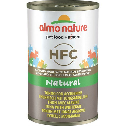 Almo Nature Cat Canned Food - Tuna & Whitebait (140g)