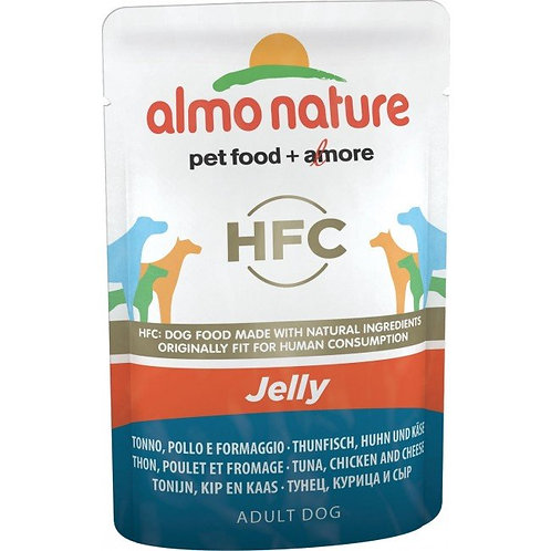 Almo Nature Classic Jelly Wet Dog Food - Tuna, Chicken & Cheese (70g)