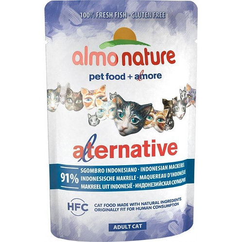 Almo Nature Alternative Wet Cat Food - Indonesian Mackerel (55g)