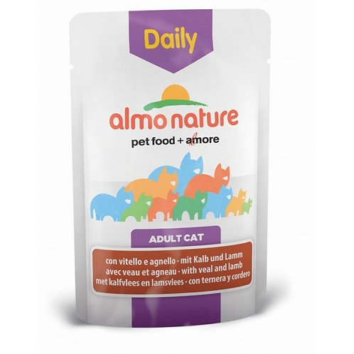 Almo Nature Daily Menu Cat Pouch - Veal & Lamb (70g)