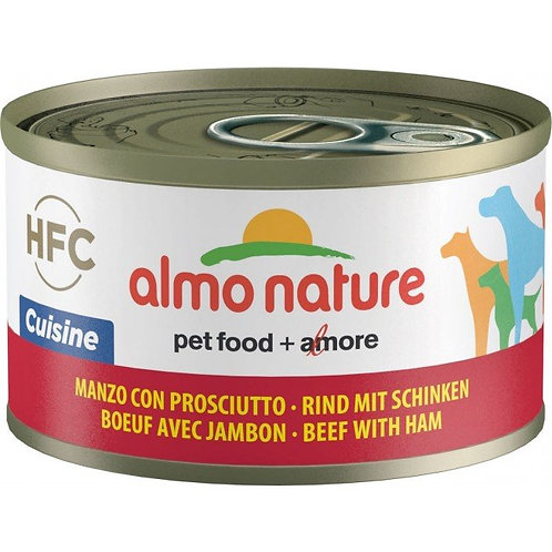 Almo Nature Dog Canned Food - Beef and Ham (95g)