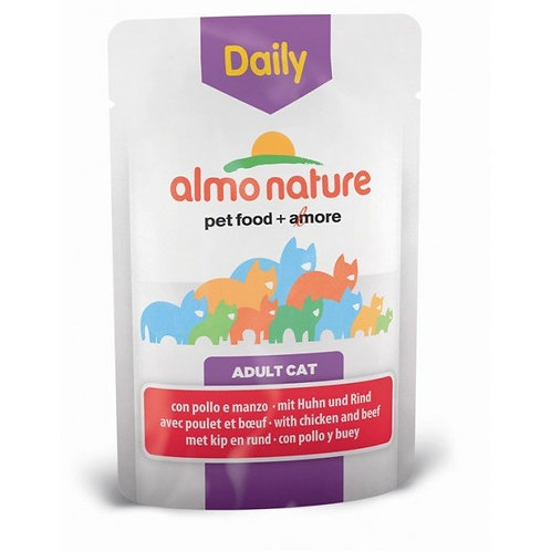 Almo Nature Daily Menu Cat Pouch - Chicken & Beef (70g)