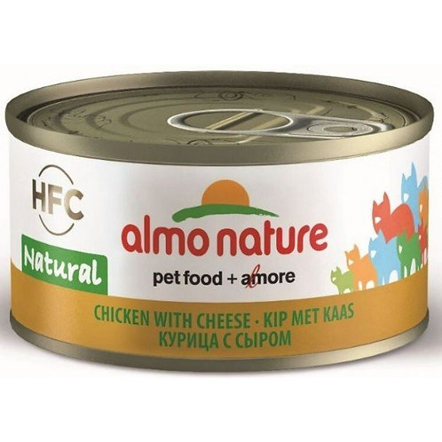 Almo Nature Cat Canned Food - Chicken with Cheese (70g)