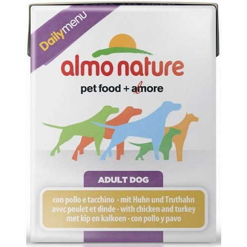 Almo Nature Dailymenu Dog Food - Chicken & Turkey (375g)