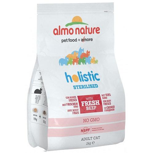 Almo Nature Sterilised Cat Dry Food - Beef & Rice (2kg)