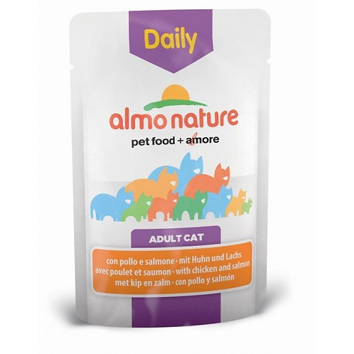 Almo Nature Daily Menu Cat Pouch - Chicken & Salmon (70g)