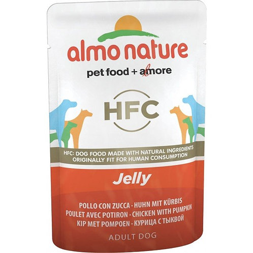 Almo Nature Classic Jelly Wet Dog Food - Chicken & Pumpkin (70g)