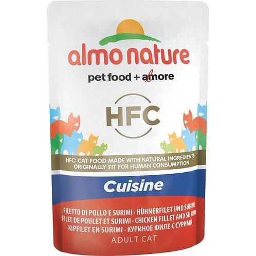 Almo Nature Classic Cuisine Cat Pouch - Chicken Fillet & Surimi (55g)