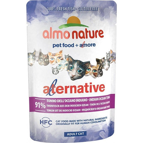 Almo Nature Alternative Wet Cat Food - Indian Ocean Tuna (55g)