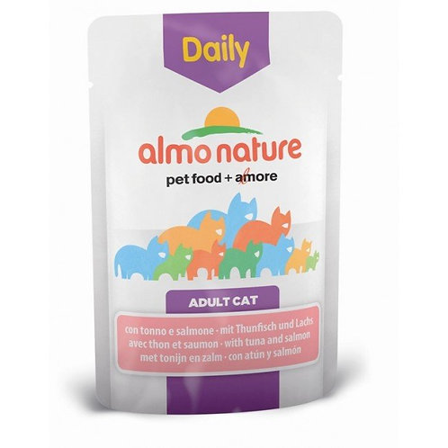 Almo Nature Daily Menu Cat Pouch - Tuna & Salmon (70g)