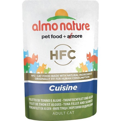 Almo Nature Classic Cuisine Cat Pouch- Tuna Fillet & Seaweed (55g)