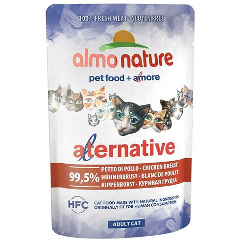 Almo Nature Alternative Wet Cat Food - Chicken Breast (55g)