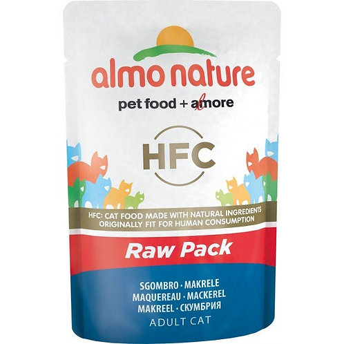 Almo Nature Classic Raw Pack Cat Pouch - Mackerel (55g)