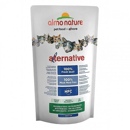 Almo Nature Alternative Cat Food - Quail & Rice (750g)