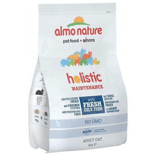 Almo Nature Holistic Adult Cat Food - Oily Fish & Rice (2kg)