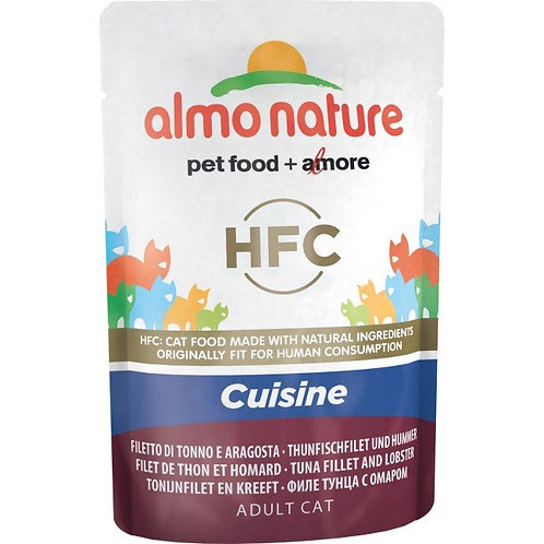 Almo Nature Classic Cuisine Cat Pouch - Tuna Fillet & Lobster (55g)