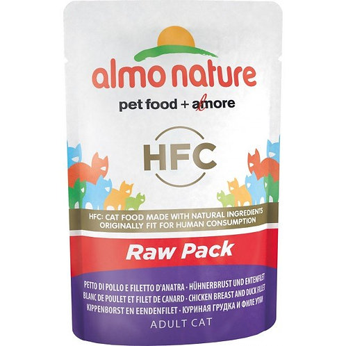 Almo Nature Classic Raw Pack Cat Pouch - Chicken Breast & Duck Fillet (55g)