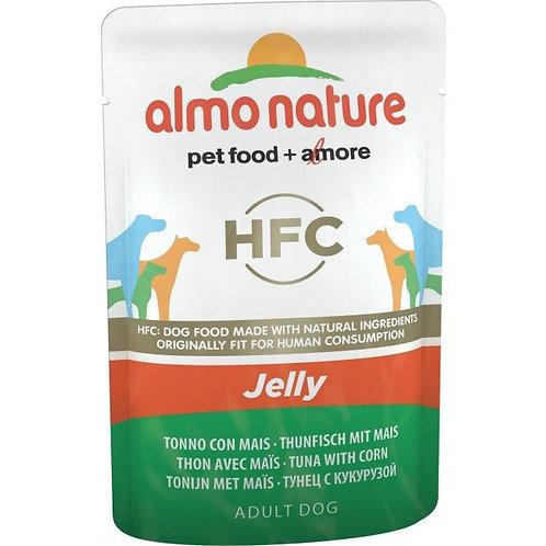 Almo Nature Classic Jelly Wet Dog Food - Tuna & Corn (70g)