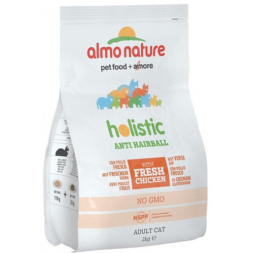 Almo Nature Anti-Hairball Cat Dry Food - Chicken and Rice (2kg)