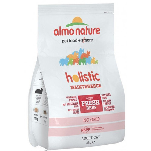 Almo Nature Holistic Adult Cat Food - Beef & Rice (2kg)
