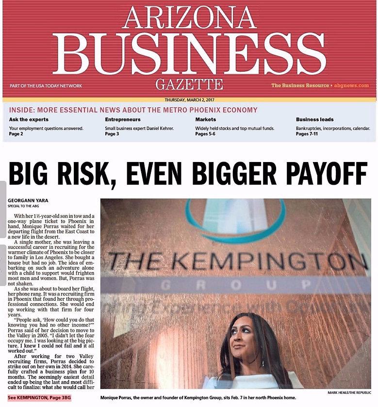 The Kempington Group, Arizona Business Gazette